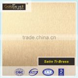 supply satin ti-brass finish stainless steel sheets for elevator building decoration and wall panels