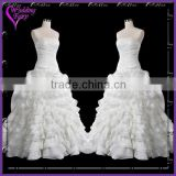 TOP SELLING!!! OEM Factory Custom Design ball gown wedding dress with cap sleeves neckline