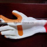 full sizes latex palm coated labour safety gloves