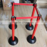 High Quality Crowd Control Rope Stanchion/Queue barrier pole