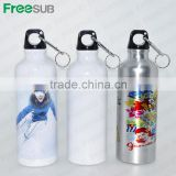 500ml Sublimation Silver and White Aluminium Sport Water Bottle