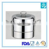 2014 new product 2 layers stainless steel food display steamer