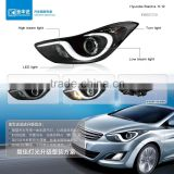 Headlight within high beam light turn light led light for Hyundai Elantra 11-12