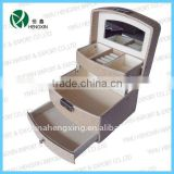 box jewelry box,PU jewelry holders boxes,alligator leather gift chest with drawers,jewelry packaging bag