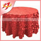 Wholesale colored petal hotel plain hotel table cloth polyester round table cover