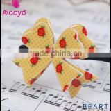 Wholesale Girls Elastic Hair Band Hair Ornament accessories butterfly resin bow hair rubber band