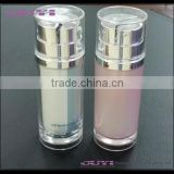dual chamber bottle round cosmetic lotion bottle cosmetic packaging