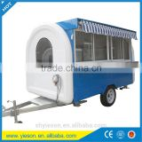 customized double axles small food trailer with mobile candy kiosk/ food kiosk cart for crepe&waffle machine/ food service car