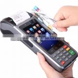 Rugged pos machine with built in printer /Handheld pos terminal all in one pos/pos device