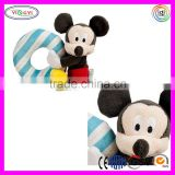 C335 Mickey Mouse Plush Rattle Soft Toys for Baby Stuffed Mickey Mouse Soft Toys