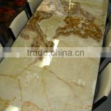 Wholesale high quanlity GREEN ONYX TABLE TOPS COLLECTION Pakistan Onyx Marble brings you beautifully designed quality Green Onyx