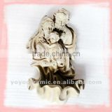Christian statues wall hanging fountains