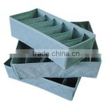 three-piece bamboo charcoal storage boxes without covers