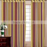 Indian Made Wall Cotton Stripe Curtain / Home Based Window cotton Stripe Curtain / Varieties Color and Customized Cotton Curtain