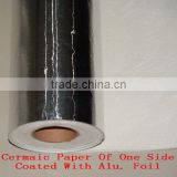 Ceramic paper of one side coated with Alu. Foil