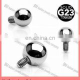 Grade 23 Titanium Internally Threaded Dermal Anchor Ball Top