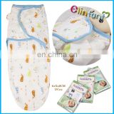 Elinfant 100% cotton muslin swaddle blanket swaddleme