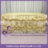 TC001#63 table skirting for wedding polyester taffeta dress table