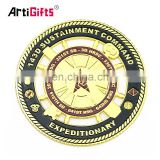 Gold Customized Soft Enamel Antique Die Alloy Military Metal Copy Coin