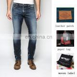 Classic bogart slim fit blue wash stretch denim jeans pants factory in china oem & odm manufacturer