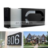 6 LED Waterproof House Door Number Light Solar Address Number Plate