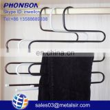 Factory wholesale cheap item iron metal hanger, home accessory, s shape cloth hanger