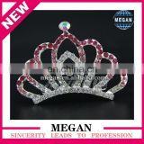 Bridal Tiaras Korean Style Colorful Rhinestone Small Flower Crown Tiaras
