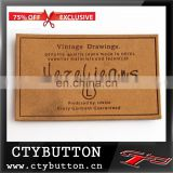CTy054 pure brown printed high quality cloth tag Manufacturer
