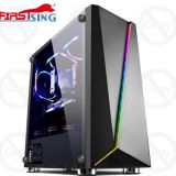 Firstsing ATX Mid Tower Gaming Tempered Glass PC Computer Case With RGB light strip