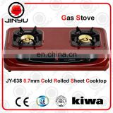 sales hot 2 burner 0.7mm cold rolled sheet cooktop with shining red surface kitchen appliance gas stove/gas cooker
