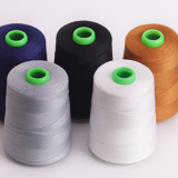 30s/2 100% Spun Polyester Sewing Thread More Than 800 Colors Available 5000 Yards Cone for Tents, Jeans, and Shoes