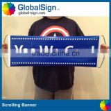 promotional advertising hand roll up banner