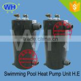 Longer service life titanium pool heat exchanger for Water Source Hot Pump Heater