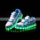 America star rechargeable LED men/women shoes/casual shoes with LED flashing light for men/women running walking sneaker