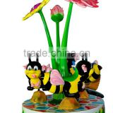 hot sale kids ride bees carousel for 3 players for amusement centers