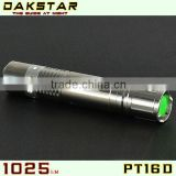 DAKSTAR PT16D 1025LM CREE XML T6 18650 Stainless Steel Police Emergency rechargeable Sport Police Mini LED Flashlight