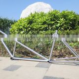 New design Gr9 titanium tandem MTB frame &Titanium tandem fat bike frame with double seat bicycle