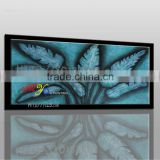 hot selling Modern New design blue leaves of banana handmade oil painting on canvas house decoration