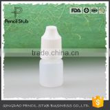 plastic 3ml PE dropper bottle with childproof cap