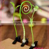 2015 Fashion Green Head plants Grass Bean Sprout Flower hairpin