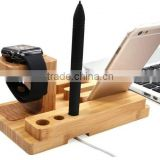 wooden desktop for apple watch charging stand, stand Charging Holder for apple watch and for iphone charging dock