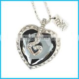 Lady fashion jewelry necklace usb flash drive,OEM usb flash drive,crystal usb flash drive,heart shaped usb