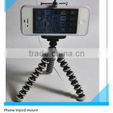 ET-PH01 Black Mount Holder for iPhone 5 5G 4S 4 Samsung Galaxy S4 i9500 S3 Universal Tripod Stand extending tripod