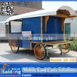 High quality food kiosk cart for sale CE street food vending cart for sale ISO9001street hot dog cart for sale