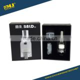 Hot selling dry herb vaporizer Mr Bald II glass tank with heating element ceremic plate no exposed coil
