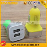 Cheap Wholesale Colorful Frosted 12V Car Battery Charger For iPhone Promotional Customized Mini Universal USB Car Charger