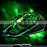 USB Wired Optical Computer Gaming Mouse 2400 DPI Game Mouse Mice With LED Light Luminous For Desktop Laptop