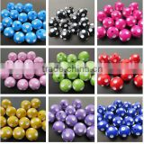 2014 Halloween Fashion 12mm to 24mm chunky resin polka dot beads for Girls Chunky Necklace Making