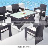 Rattan outdoor modern restaurant dining table and chair /dining tables and chairs(DH-3015)