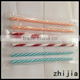 Colorful plastic wrapped striped plastic straws                                                                         Quality Choice